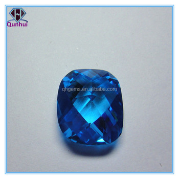 fat square shaped topaz or pink cubic zirconia