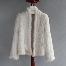 2018 Suit Knitted Style Low Price Real Colored Fur Coats For Women