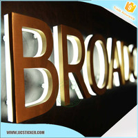 Good price LED Frontlit epoxy resin Channel illuminated advertising sign outdoor,aluminum signage,hot illuminated signs pricing