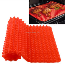 Pyramid Shape Nonstick Fat Reducing pyramid tray silicone - Size with 16x11.5 inches