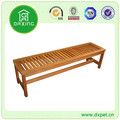 Wooden furniture brown long wooden bench