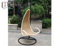 Factory Price Rattan Furniture Wicker Egg Shaped Chair Adult Swing Chair