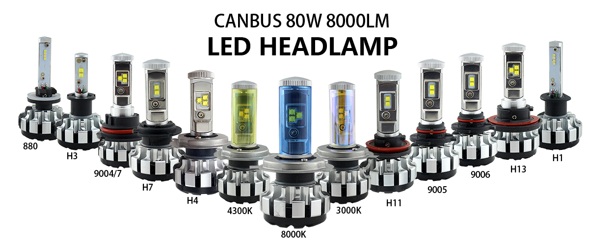 12000 Lm 70w H7 H4 Led Car Headlight Bulbs H11
