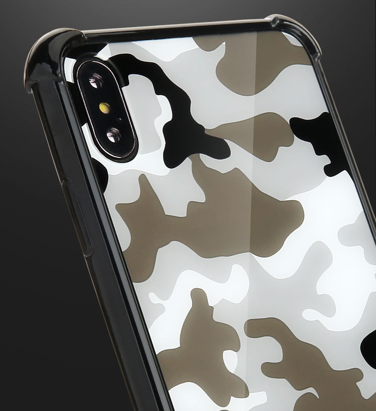 Camouflage TPU+Acrylic Shockproof combo case for iphone xs max xr cover
