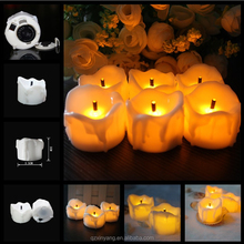 2016 Newest Product Flamless Feature Bright Yellow Flickering Led Tea Light With Black Wick