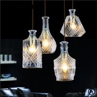 1 set(4pcs) fashion transparent glass carved pendant light droplight