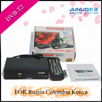 JUNUO factory free tv channel receiver OEM DVB-T2 mpeg4 HD dvb t2/ATSC for Russia Kenya/USA Mexico