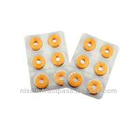 Doughnut type lozenge brand for relief from throat swelling and sorness