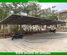 flat roof covered car parking shed