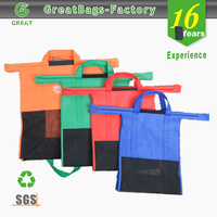 Lead free Reduce Reuse Recycle Groceries Pack trolley bags shopping 4 set