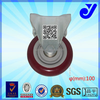 JY-401|Rollerblade style caster wheel|4 inch fixed caster|Office chair rubber caster wheel