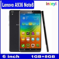 6.0 Inch Lenovo A936 4G Andriod 4.4 Mobile Phone MTK6572 1GB ROM+8GB RAM Oncta Core 13MP