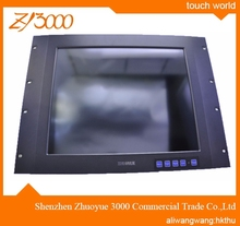 new stock open frame metal casing - Aluminum Rack 4 / 5 wire resistive touch screen industrial lcd monitor