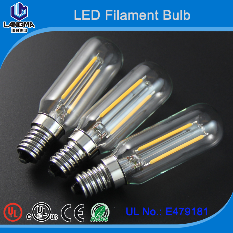 t20 clear bulb e12 tubular led filament bulb UL certificate led filament t20 clear bulb e12 e14 e17 e26 e27