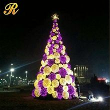 Hot new products for 2014 led lighted glass christmas tree