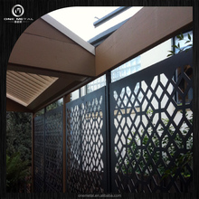 Stainless Steel privacy screen for garden