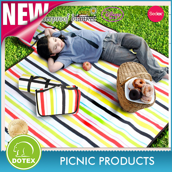 Sedex Certification factory Outdoor Camping Picnic Blanket Oversized Mat Beach Blanket with Handles
