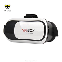 VR BOX V2 3D VR Glasses plastic Play games See Moives 3 d Glasses with Bluetooth Gamepad Virtual Reality Fit IOS Android System