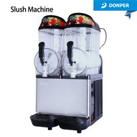 Donper Double Bowl Cocktail / Coffee Slush Machine XC224