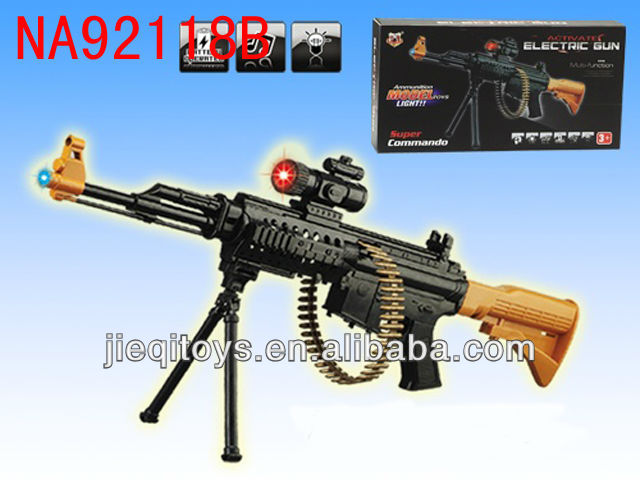 Vibrate bo toy weapons and guns with gunshot and light