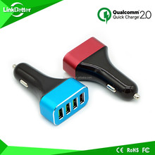 Quick Charge 2.0 Car Charger, 48W 4-Port USB Car Charger Adapter - Smart Port USB Car Charger 9V 2A + Quick Charge for Samsung