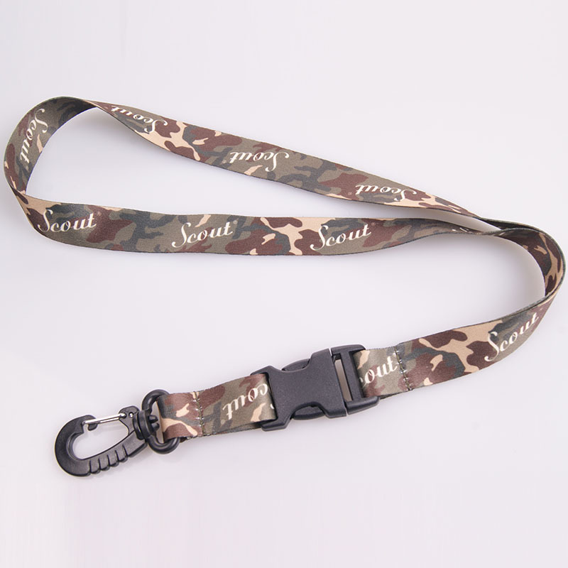 good reputation gold supplier customize camouflage color lanyard