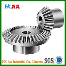 Precision CNC machining mild steel bevel gear for bicycle, steering bevel gear