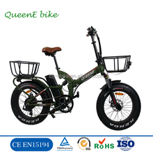 20 inch Wholesale Fat Tire folding Electric Bike/fat tire chopper bike bicycle