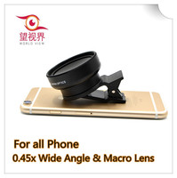 Mobile Phone & Accessories 0.45x Super Wide Angle Llens&Macro Lens for Mobile Phone and Camera