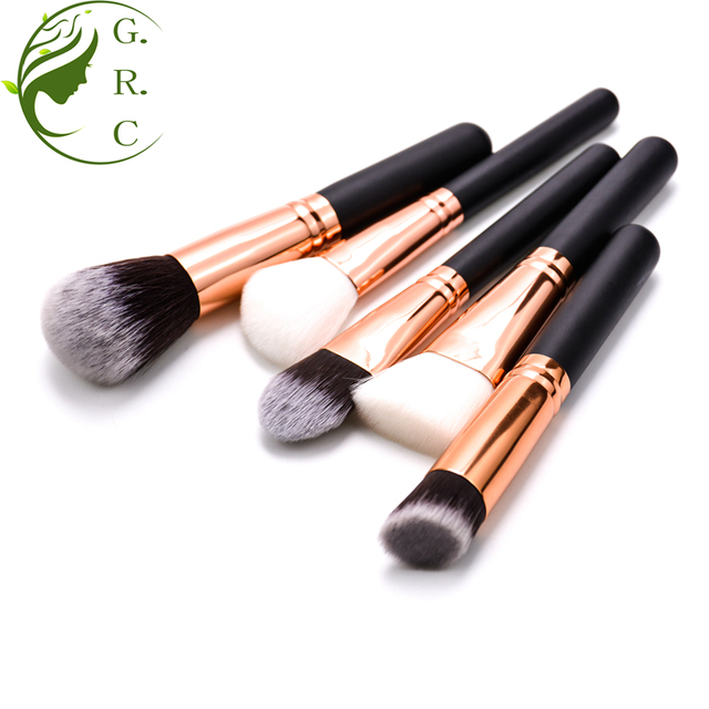Customized 15pcs Rose Gold Makeup Brushes Set Cosmetic Make Up Tools Kit Powder Foundation Eyes Brush With Pouch
