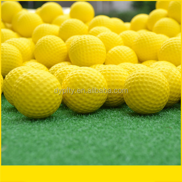 promotional yellow pu golf foam stress ball bulk