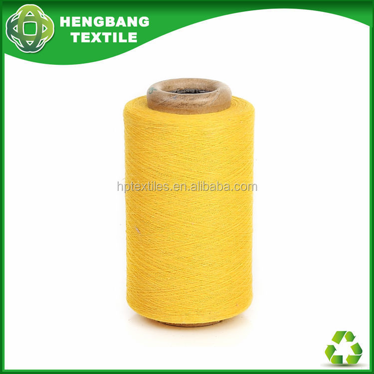 Discount ECO 18s yellow color cotton yarn fabric price HB765 in China