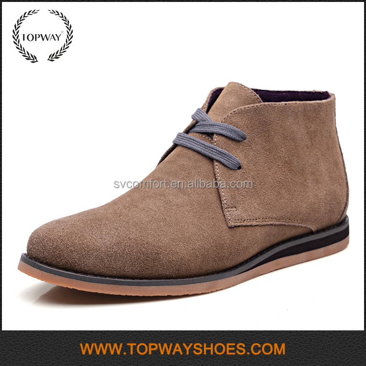 Wholesale Custom logo cow suede leather british ankle <strong>boots</strong> for man