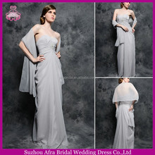 SD1843 floor length chiffon gray young mother of the bride evening dresses