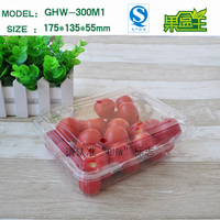 Small clear transparent plastic storage control packaging box for cherry tomatoes