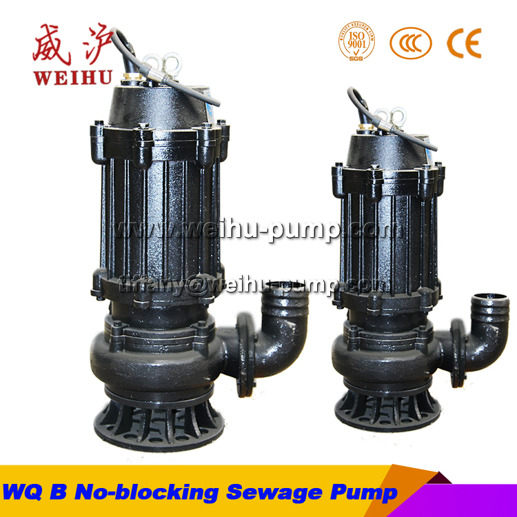WQB type no-blocking submersible sewage pump