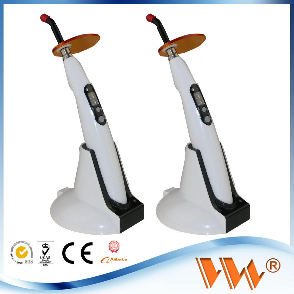 Retail sale 10w 52 dental led curing light wap wireless dental curing light