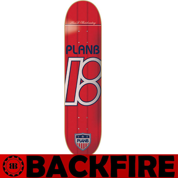 Backfire PLAN B SKATEBOARDS Complete Pro Skateboard UNITED LOGO RED 8.0 Professional Leading Manufacturer