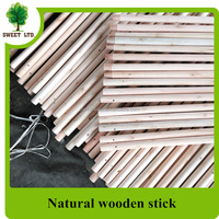 Standard thread Eco-friendly Natural Wood Broom handle wood broom stick