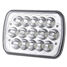 China Factory 45W C REE LED Work Light, 7inch 4x6 headlights, led high-low beams for truck