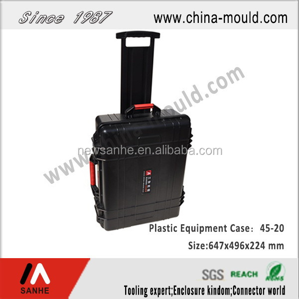hard plastic hand carry transport travel equipment case