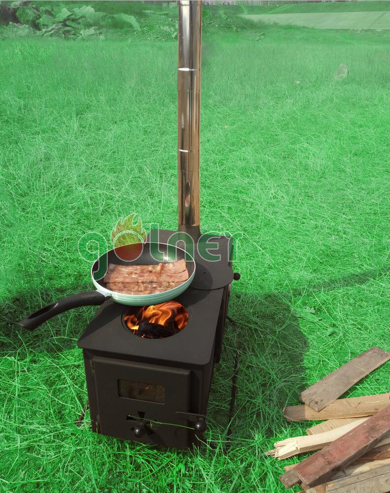 C 11v outdoor camping cooking stove wood burning stove for Outdoor wood cooking stove