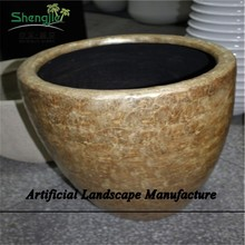 SJZJN 967 Creative Fiberglass Planter Flower Pots High Quality