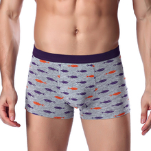 Import China Modal Middle-Waist Printing Breathable Sexy Men's Shorts Underwear Wholesale Briefs For Man