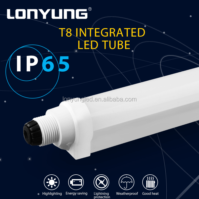 Lighting lamps 900lm-44lm 2700-6500k Office Hotel Supermarket Surface mounted ul integrated led tube light t8