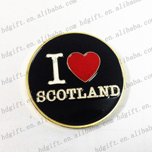 Scotland Customized Enamel Metal Coin Copper Collector Tokens