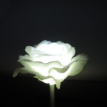 Outdoor garden decoration branch plant silk rose flower shape plaza led fiber optic flower light