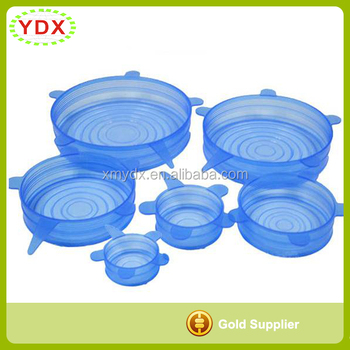 Wholesale Keep-Freshing Silicone Stretch Lids Suction Lids For Bowl 6 Pack