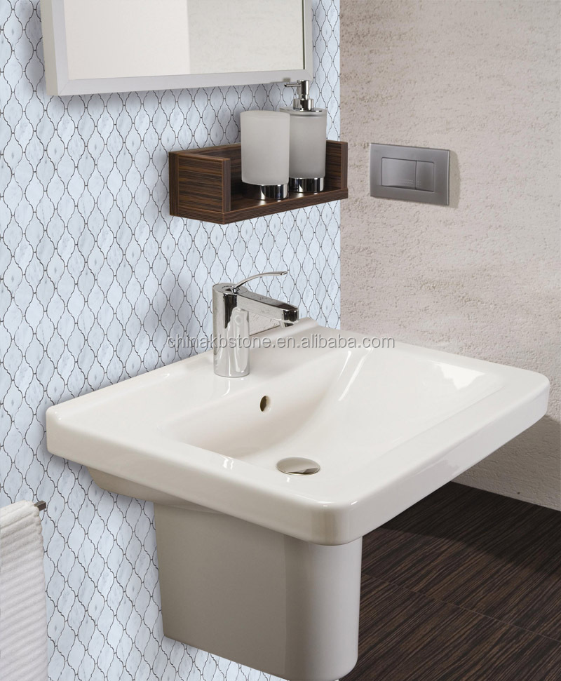 Italy Bianco 2016 new design carrara white lantern mosaic tile for bathroom wall and floor