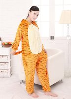 Popular classical plus size cotton adult pajama bodysuit